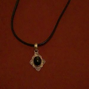 Sterling silver pendent with black onyx stone
